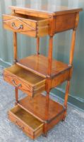 Walnut Three Tier Whatnot Stand